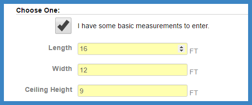Basic measurements b