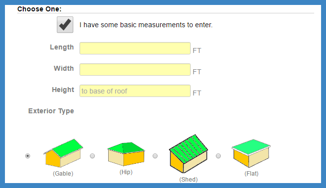 Basic measurements exterior a