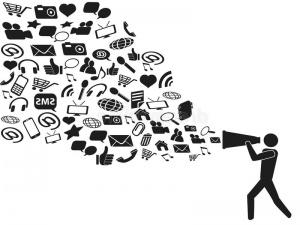 social media marketing - tell people